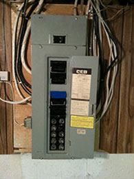 Home Electrical Panel Before