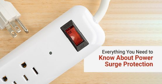 Household surge protector for power surge protection
