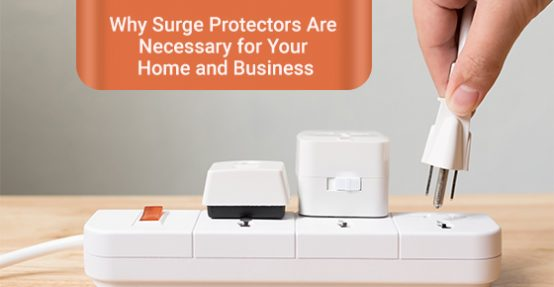 A surge protector is used to safeguard your devices