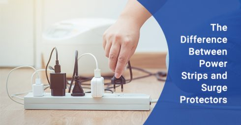 What is the difference between power strips and surge protectors?
